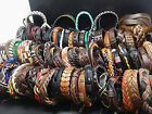 wholesale assorted mixed fashion genuine leather surfer cuff Jewelry Bracelets