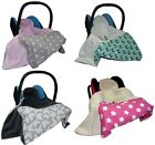 CAR SEAT BABY BLANKET / COSYTOES / all season  / 100x100cm / NEW-Reversible