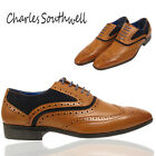 Mens Brogue Boots Lace Up Casual Ambassador Grantham Shoes Office Work UK 7-11