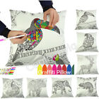 "18"" Secret Gift DIY Graffiti Animal Patterns Hand Sofa Pillow Case Cushion Cover"