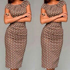 Women Summer Casual Office Lady Party Evening Cocktail Midi Dress sw