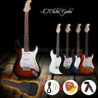 ST Full Size Electric Guitar+Gig Bag Picks Strap Beginners+Free Ship New H8P0