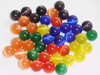 6 HARD TO FIND FIBRE OPTIC CAT EYE MARBLE BALL SPHERE ORB 15/16mm NIMBUS BRIGHTS