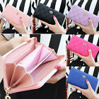 Women Zipper Leather Long Purse Ladies Clutch Coin Phone Bag Wallet Card Holder image
