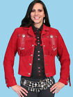 Scully Womens Red Suede Fringe Leather Jacket L152  NWT