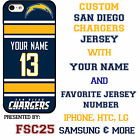 San Diego Chargers NFL Phone Case Cover for Samsung s7 s7 edge s6 Note 5 etc