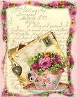 Seneca Ponds Teacup Roses Collage Fabric Block Multi Sz FrEE ShiPPinG WoRld Wide