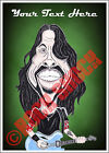 Dave Grohl Foo Fighters Caricature Personalised Text Greeting Card Rock Birthday