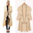 Womens Long Cardigan Jacket Casual Leisure Blazer Suit Trench Duster Coat  S-5XL