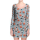 London Baby! Longsleeve Bodycon Dress XS-3XL All-Over-Print