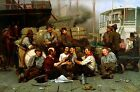The Longshoremen's Noon Painting by John George Brown Art Reproduction