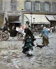 Crossing the Street Painting by Giovanni Boldini Art Reproduction