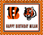 CINCINNATI BENGALS - Edible Birthday Cake Topper OR Cupcake Topper, Decor on eBay