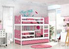 Max Bunk Bed Childrens With Basic Foam Mattresses/Storage Drawer 8 Colours