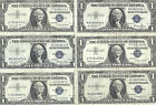 1935 & 1957 $1 SILVER Certificates! 6 Notes! CRISP VF! Old US Paper Money!