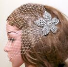 Bridal Rhinestone Wedding Hair Accessories Crystal Headpiece Birdcage Veil Comb