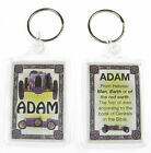 "NOVELTY NAME KEYRING PRINTED BOTH SIDES WITH ORIGIN & MEANING, LETTER ""A"" UK NEW"