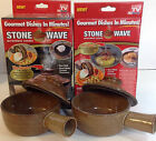 Stone Wave Microwave Cooker Gourmet Dishes in Minutes & Recipe Book Hand-Made