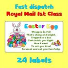 7designs HAPPY EASTER EGG FUN BUNNY TAILS KISSES POOP BAIT NOVELTY LABEL STICKER