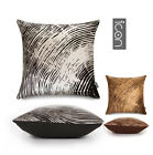 Scatter Cushion Cover PACK of 4  METALLIC GOLD SILVER BLACK GOLD BROWN Covers