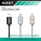 New Aukey 1.2M/3.9Ft USB Cable Lightning Charging Cable Fabric Data Cable IOS