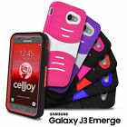 For Samsung Galaxy J3 Emerge J3 2017 EXO Armor Shockproof Kickstand Hybrid Case