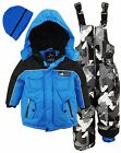 Ixtreme Little Boys Down Alternative Heavy Skiing Snowsuit Jacket Bib Bonus Hat