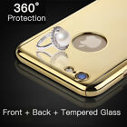 Luxury Bling Case for iPhone 6 6S 7 Plus 360 Full Protective Cover Shockproof SE