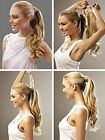 "16""-26"" 100% Human Hair Body Wave Clip In Wrap Around Ponytail Extension 100g"