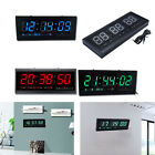 Large Modern Digital Display LED Wall Alarm Countdown Clock 12/24 Hour Timer
