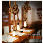 Industrial Pendant Lamp Vintage Edison Nautical Manila Rope Ceiling Light 6823H