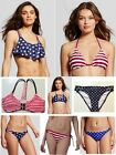 Xhilaration Women American Flag Bikini TOP or BOTTOM Patriotic- Swim wear