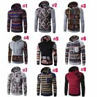 Men's Winter Slim Hoodie Warm Hooded Sweatshirt Coat Jacket Outwear Sweater Plus