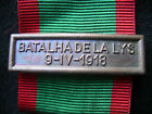 PORTUGAL PORTUGUESE MILITARY FRANCE LA LYS BAR FOR MEDAL CAMPAIGNS  WWI