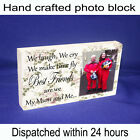Personalised block with photo and message unique gift new mum mothers day love