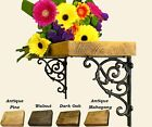 Rustic Chunky Shelf Shelves Iron Dutch Brackets 4.2cm thick FREE DELIVERY