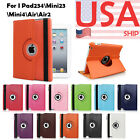 360 Rotating Matte Leather Smart Case Cover for Apple iPad 2 3 4 Air 5 6 Mini #1