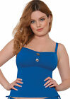 Curvy Kate CS1906 Luau Love Tankini Top Swimwear in Deep Sea Blue