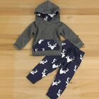 Toddlers Kids Baby Boys Girl Outfits Clothes Hoodie Sweater Tops+Pants 2PCS Sets