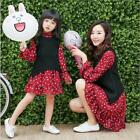 2017 Spring Mother Daughter Knit Vest+Floral Dress Sets Clothes Family Matching