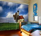 Small Church Southern Bavaria 3D Blockout Photo Printing Curtains Draps Fabric