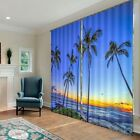 Gorgeous Beach Sunset 3D Blockout Photo Printing Curtains Draps Fabric Window