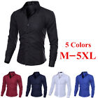 Men's Tops Luxury Fashion Mens Slim Fit Casual Dress Shirts Long Sleeve T-Shirt_