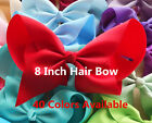 "8"" inch extra large hair bow clip oversized romany girls dance moms mums rainbow"