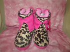 NEW Girls Cowboy Boot Slippers by Sweet, 2 sizes, browns, Pink,NEWKohls