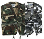 Men's Camo Multi-Pocket Outdoor Fishing Hunting Utility Vest Waistcoat Gilet