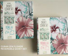 PRIMARK CUBAN ZEN FLOWER FLORAL REVERSIBLE Duvet Cover Set DOUBLE _ KING SIZE