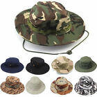 Wide Brim Hunting Fishing Camping Hiking Boonie Bucket Unisex Outdoor Cotton Hat