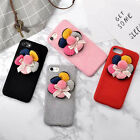 Korean Fashion Flannel Flowers Case for For iPhone 6 6s 7 7 Plus *Holiday Gift*