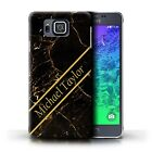 Personalized Custom Marble Phone Case for Samsung Galaxy Alpha/Initial/Cover